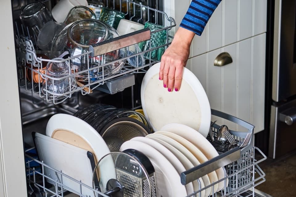 How To Stop White Residue On Dishes From A Dishwasher Hunker Sanitizing Dishwasher Clean Dishwasher Stainless Dishwasher