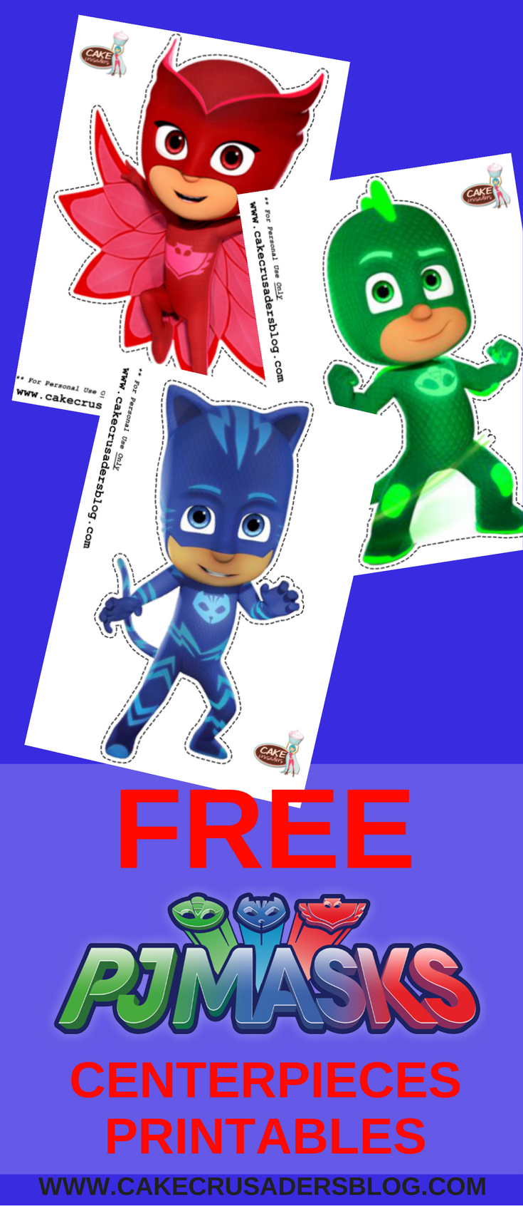 photo relating to Pj Masks Printable Images named Totally free Do it yourself PJ Mask Centerpieces Printables Options 4 Emelias