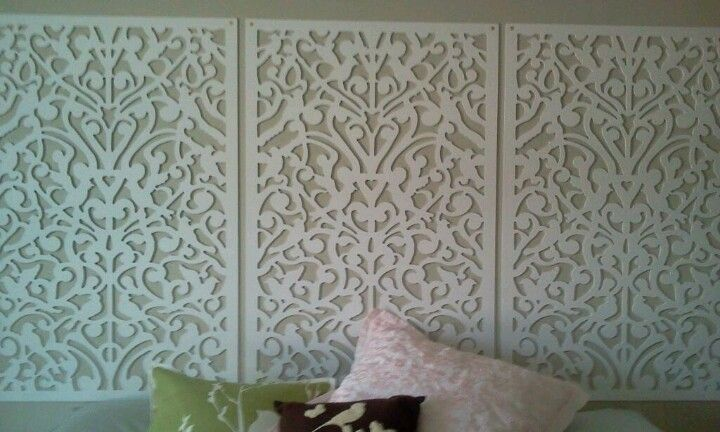 My New Headboard I Used Vinyl Fencing So Many Different