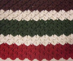 Ruby and Emerald Crocodile Stitch Blanket | crocodile stitch