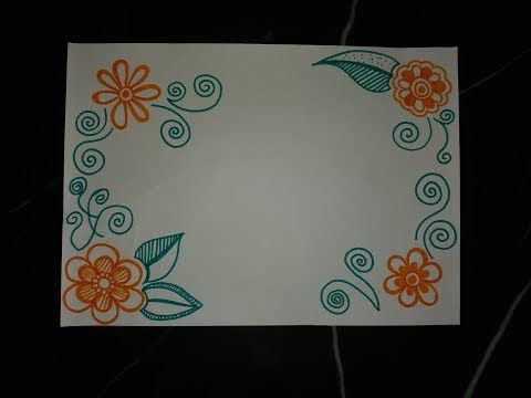 Diy Simple Easy Decorative Border Design For Project File Back To School 334 Artofit