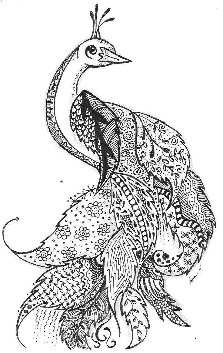 zentangle phoenix - Pesquisa Google | Tattoo ideas | Pinterest