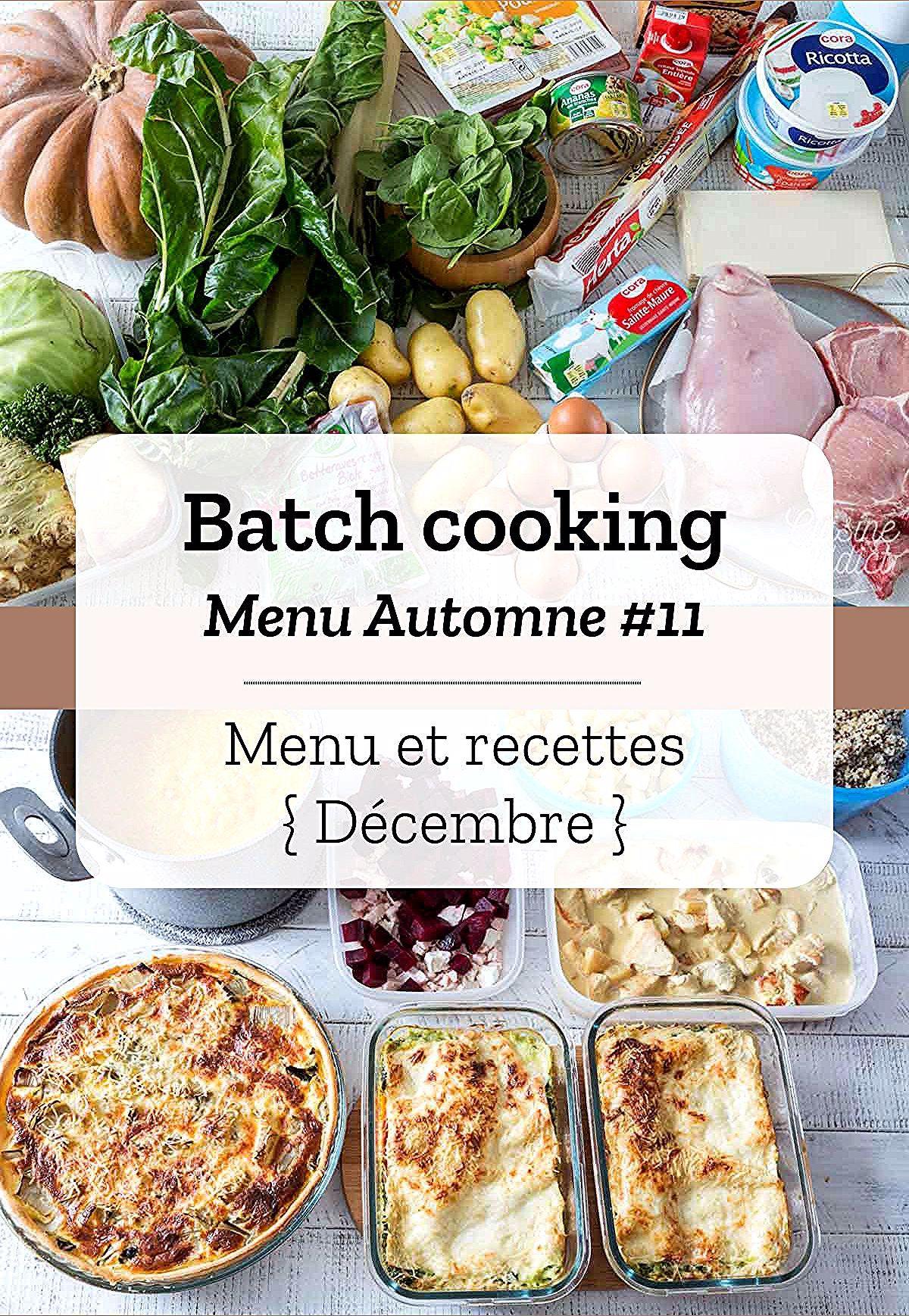 Batch cooking Automne #11 en 2020 | Recettes de cuisine ...