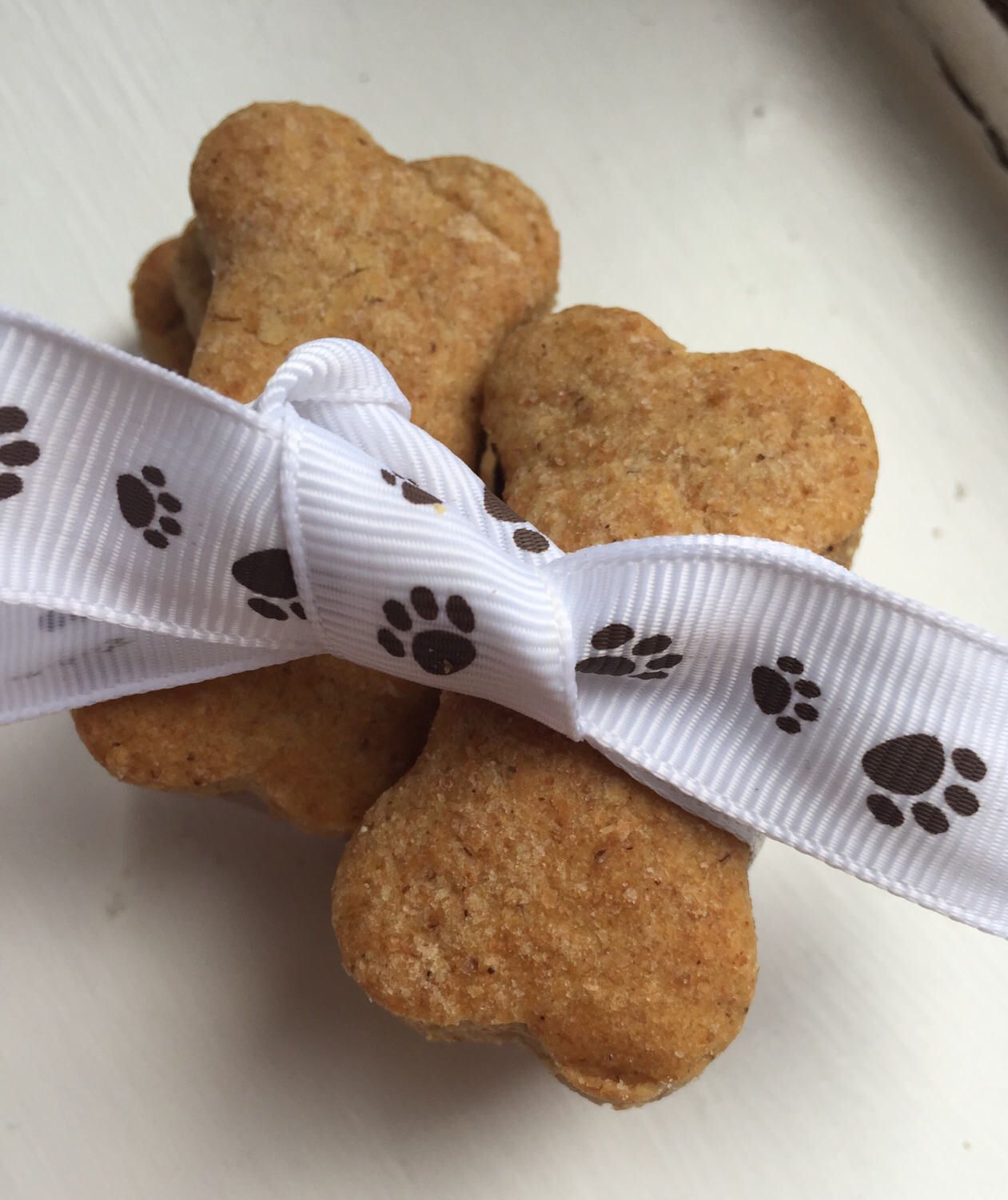 A personal favourite from my Etsy shop https://www.etsy.com/uk/listing/519231963/peanut-butter-dog-treats-homemade-gift