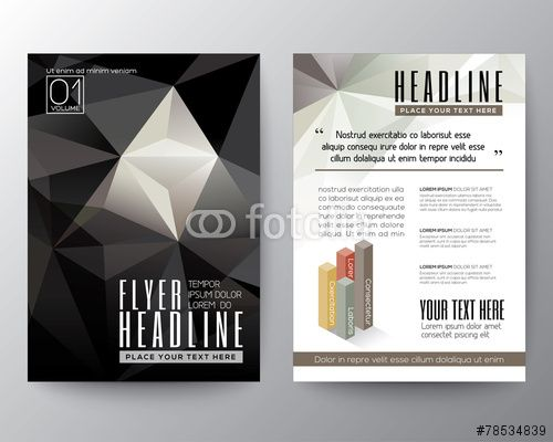 Vector: Abstract Triangle Polygon Brochure Flyer design Layout template