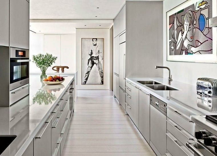 Cocinas alargadas - Ideas para aprovechar su espacios pequeños ...