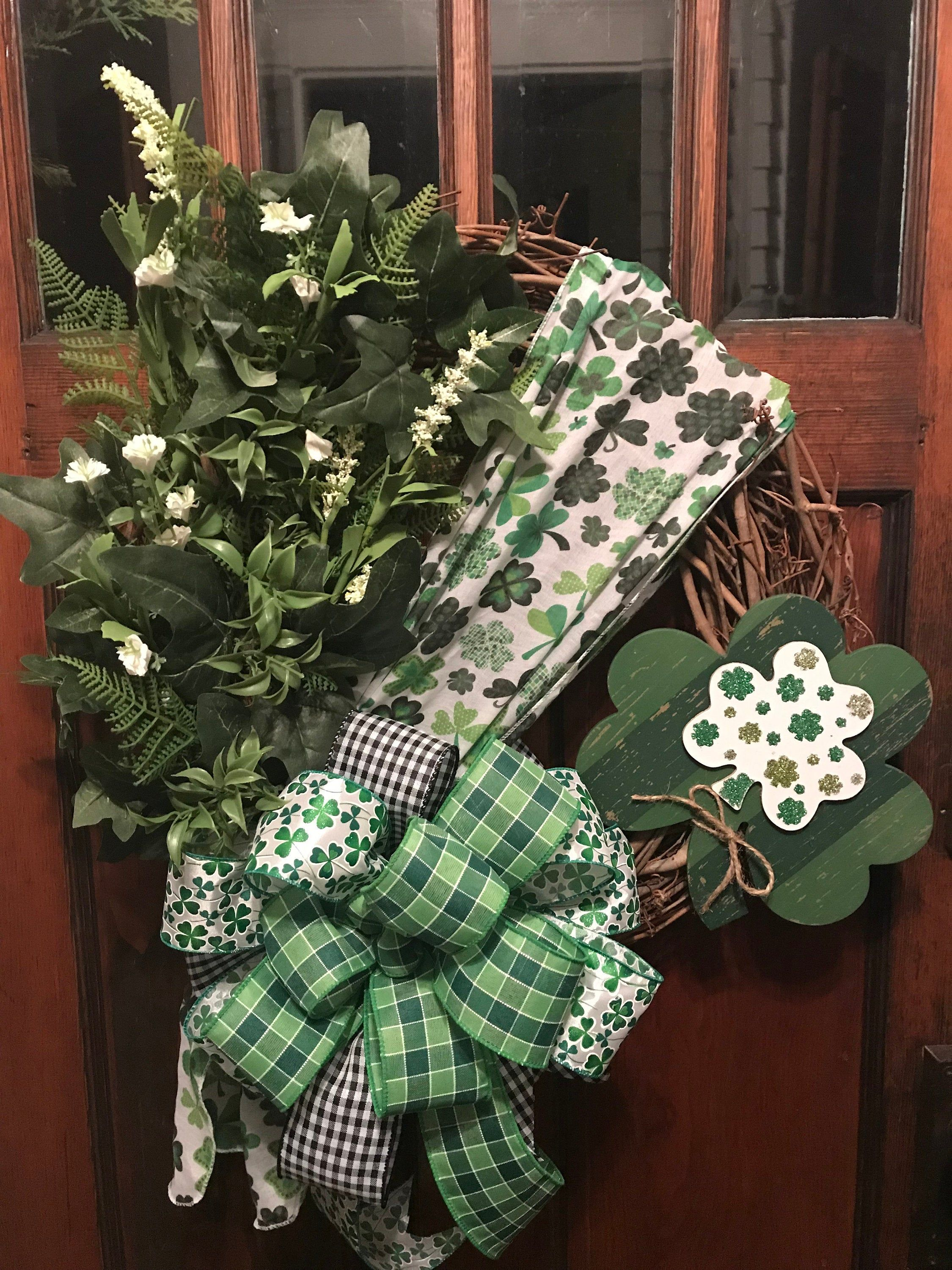 St. Patrick's Day Irish Wreath for front door, Happy St