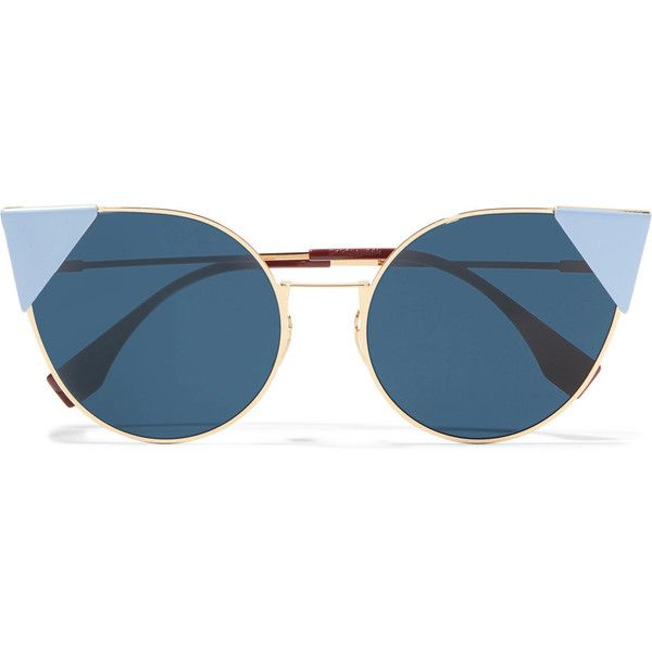 7d32fbe046cd Fendi Lei cat-eye gold-tone sunglasse (1.330 BRL) ❤ liked on ...