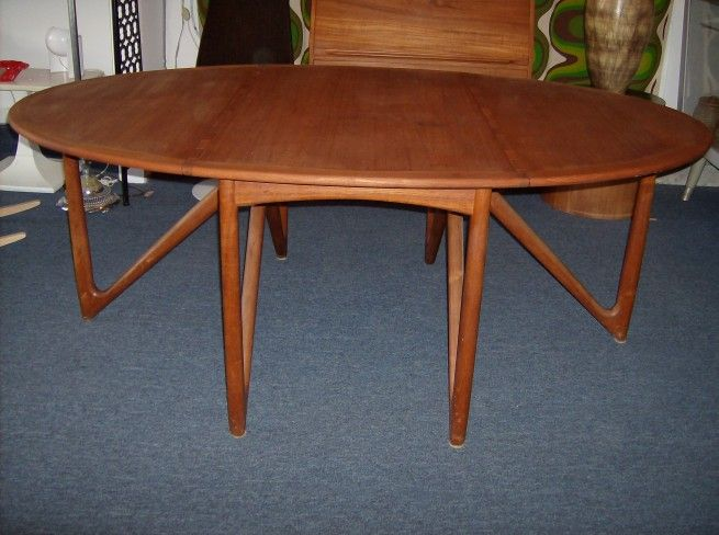 Unbelievable 1950 S Danish Teak Dining Table Designed By One Of Denmark S Best Kurt Osterv Teak Dining Table Mid Century Modern Furniture Dining Table Design
