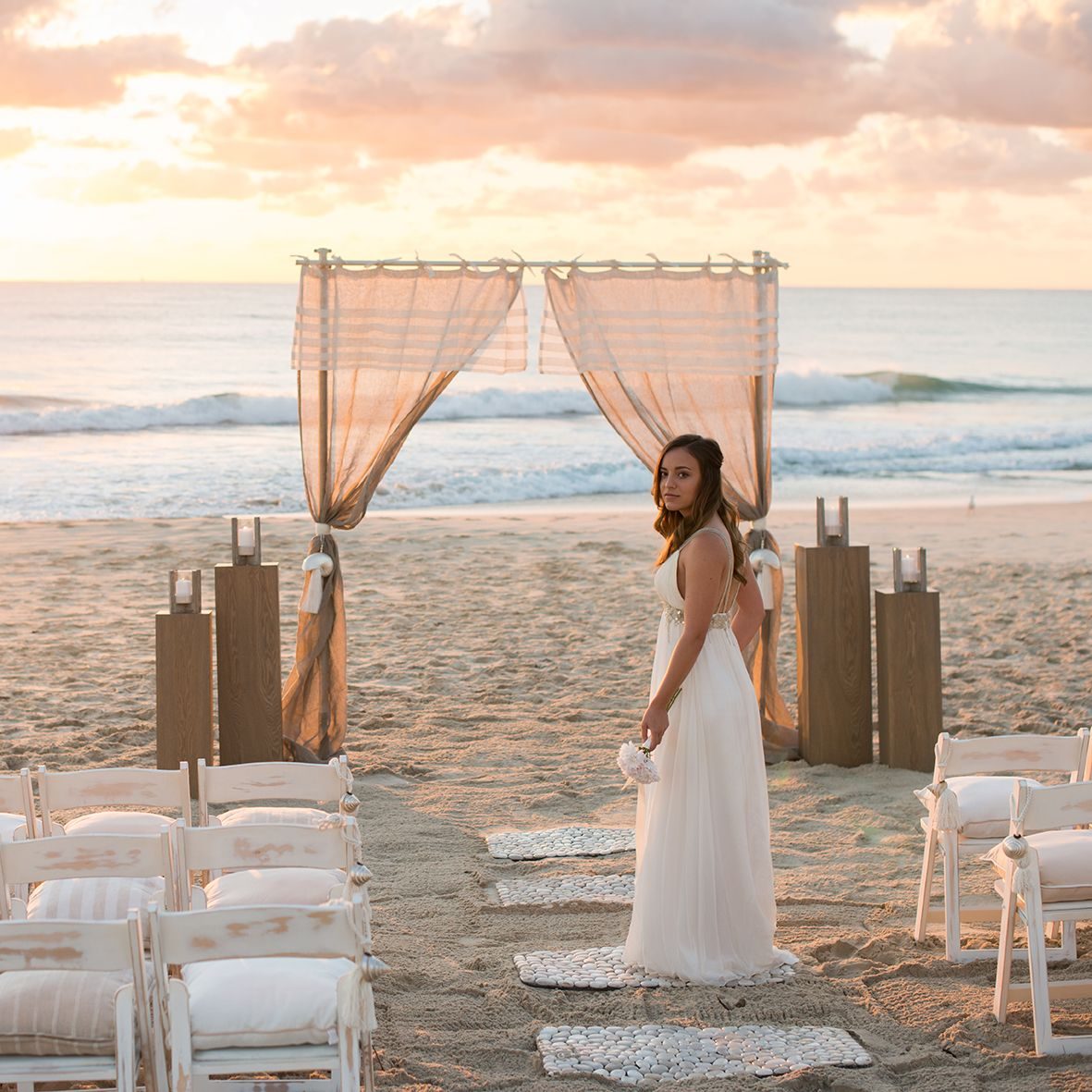 Our Dreamy Beach Bride At Dawn Styling Beautiful Weddings Events Venue Currumbin Beach Photography Beautiful Weddings Beach Bride Wedding Reception Rooms