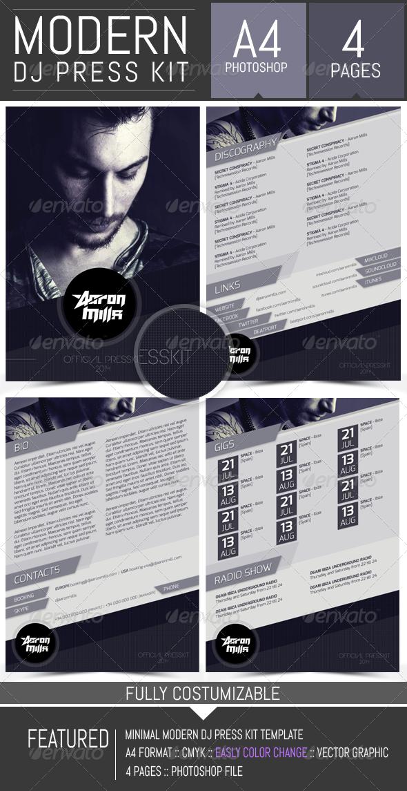 Dj And Musician Press Kit Resume Template Press Kit Template Press Kit Press Kit Design