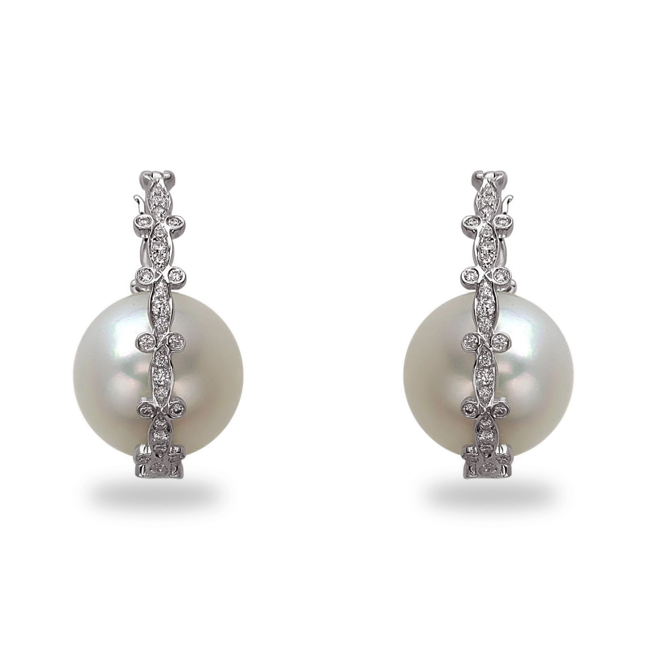Tara pearls galaxy collection white south sea pearl earrings set on
