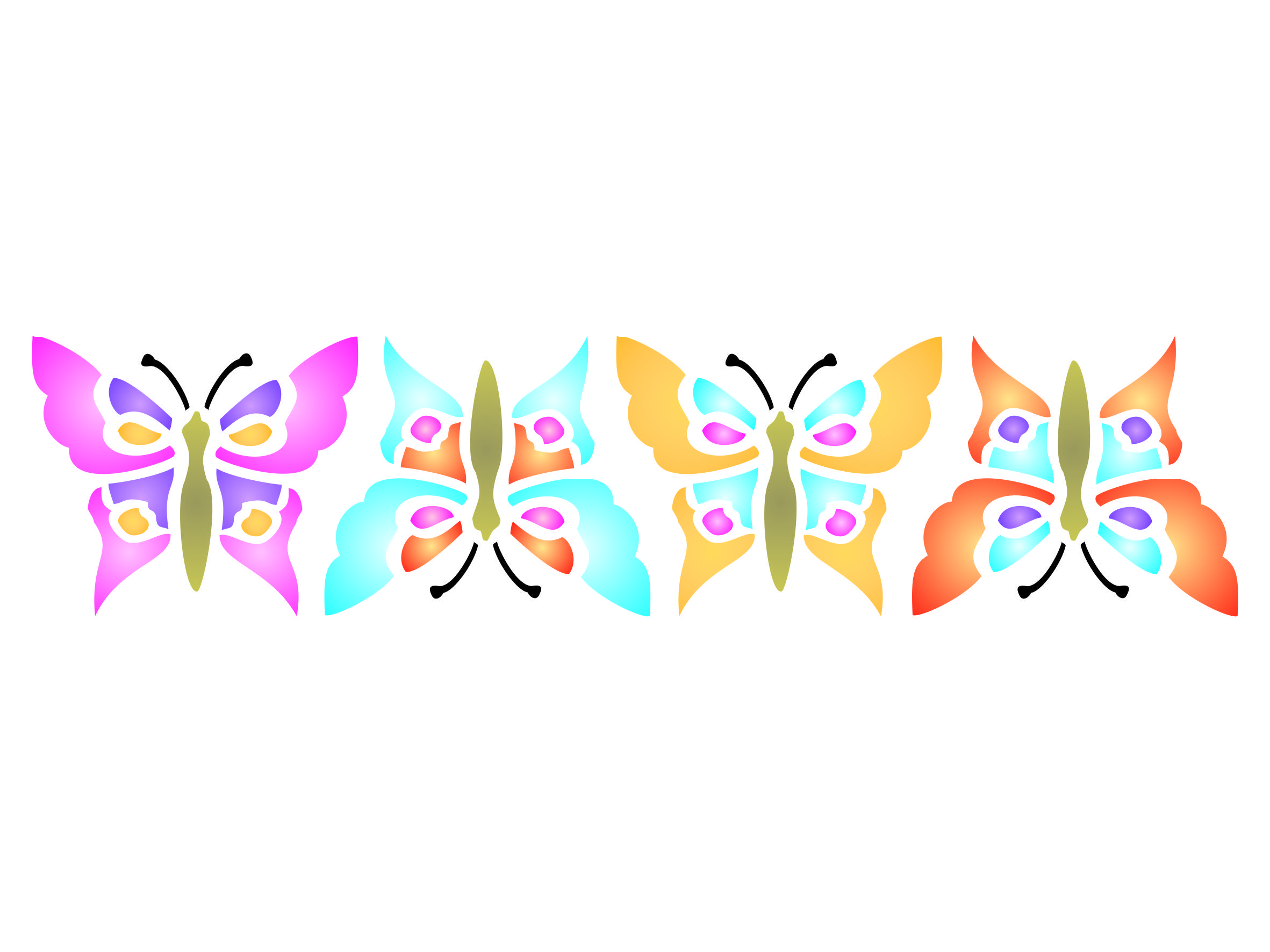 Butterfly wall border stencil httpamazondpb01d5z82aq butterfly wall border stencil httpamazondp amipublicfo Gallery