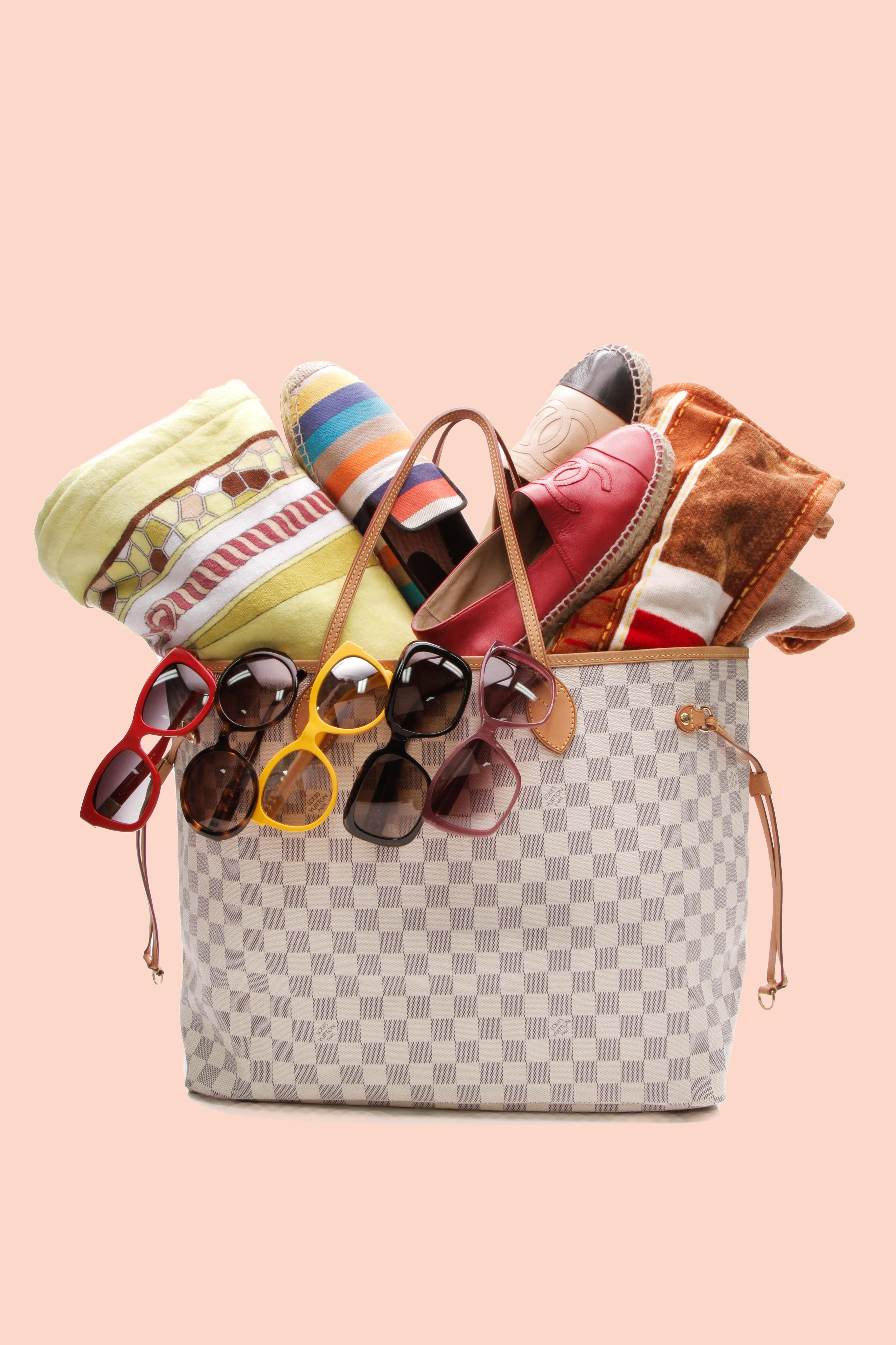 34898f3af055 Are you ready for spring break  Shop our selection of flats and shades to  make your look luxurious. . . .  sunglasses  towel  neverfull  louisvuitton  ...