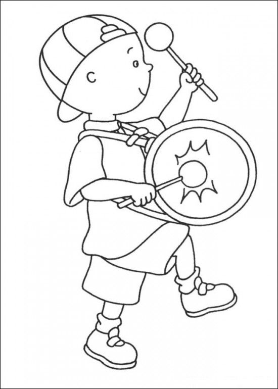 Caillou Coloring Pages Online Picture 6 550x770 Picture | Projetos ...