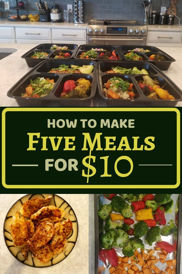 Meal Prep for Under $2 per Meal images