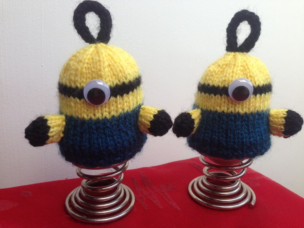 Minions Egg Cosies Knitting Pattern - Birthday Present Gift for a ...