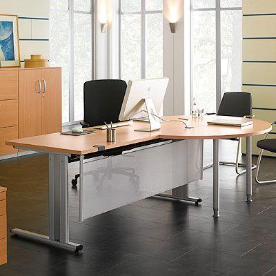 Runder Ansatztisch Buche-Dekor von Schäfer Shop | Büromöbel PLANOVA ...