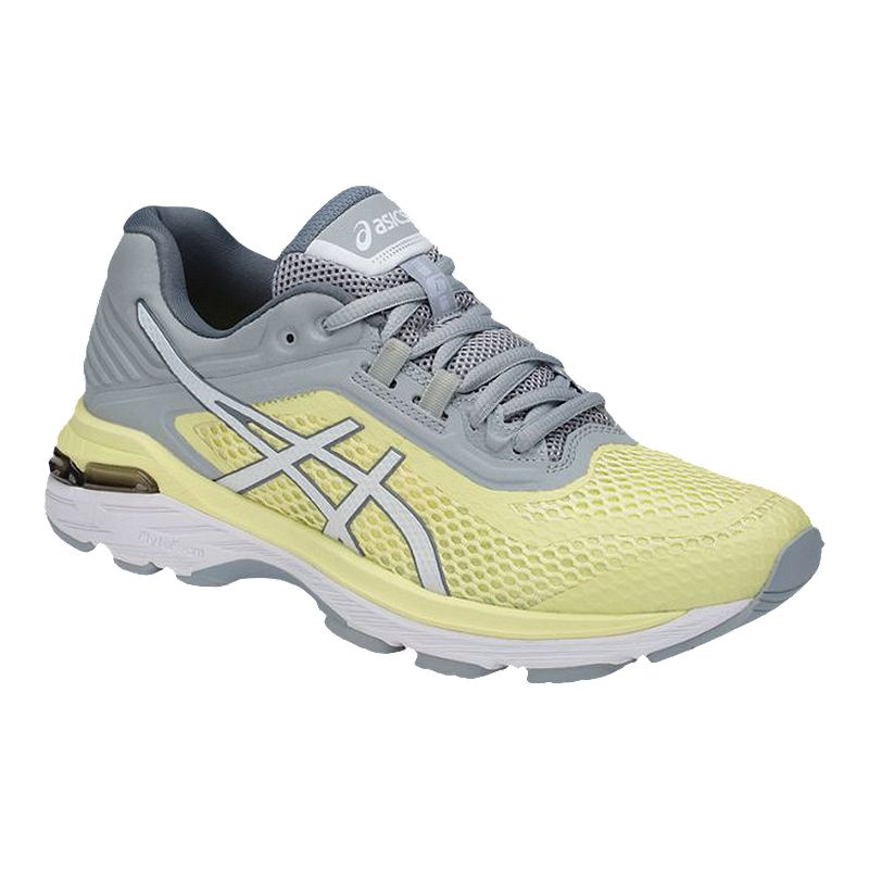 ASICS Women's GT 2000 6 Running Shoes - Yellow/White/Grey ...