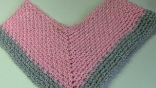 Haken Tutorial Poncho In Granietsteek Youtube Werken Om Te