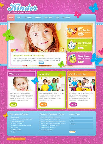 Template   Colorful  Bright Kindergarten  Day Care Html
