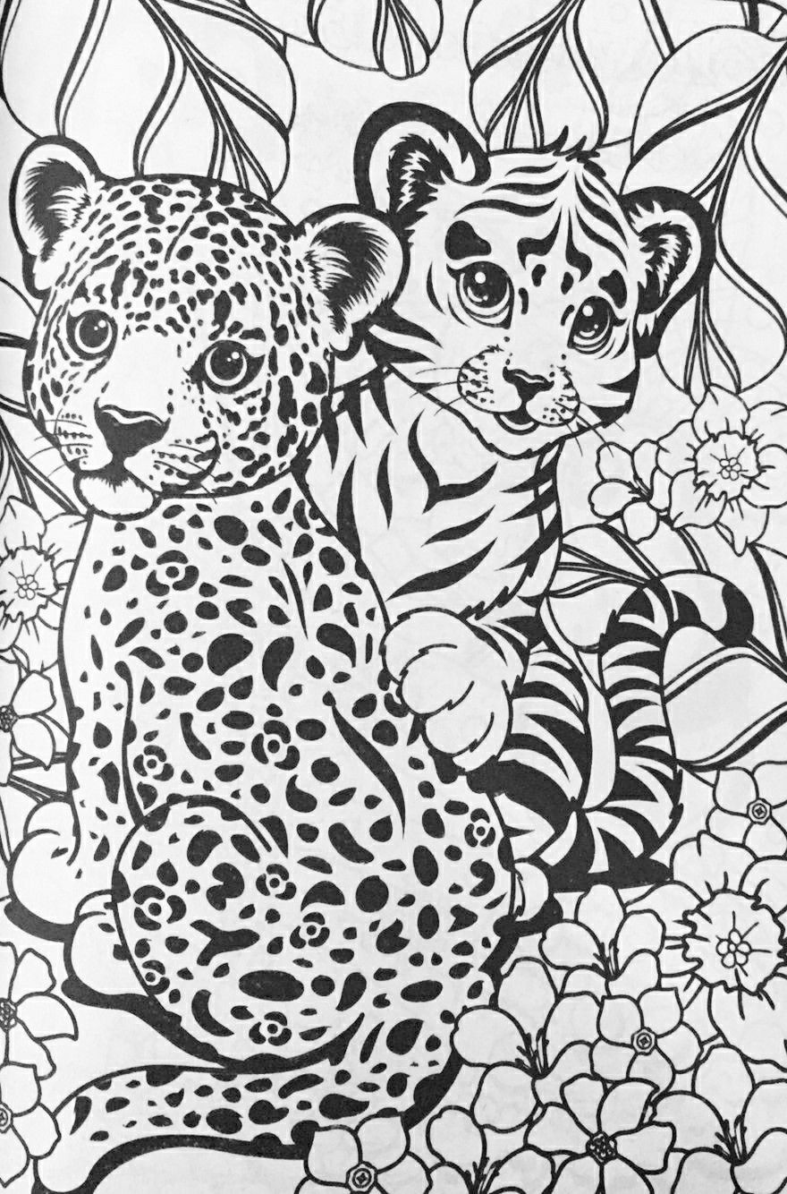 Lisa Frank cheetahs coloring page | Horse coloring pages ...