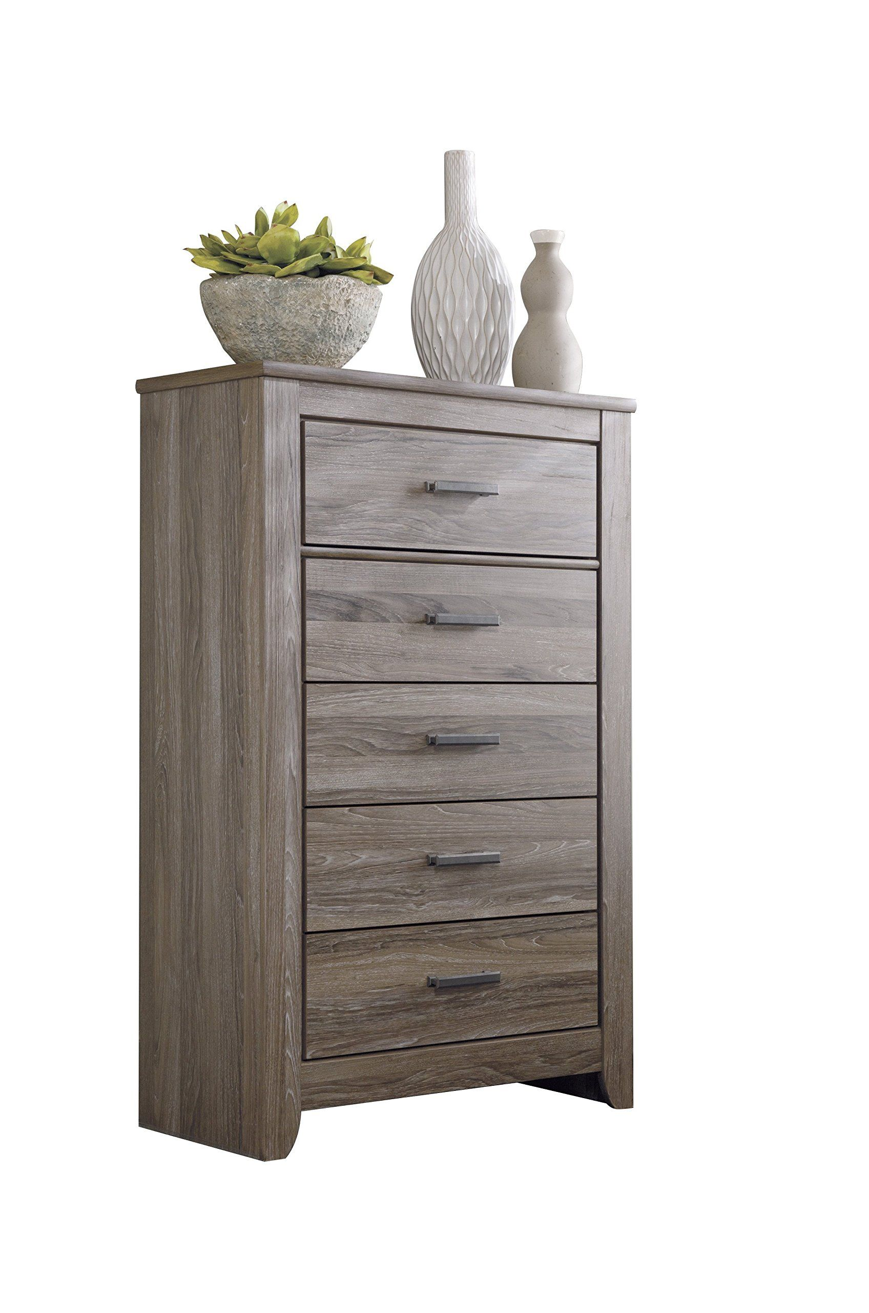 Best Ashley Zelen 5Pc E King Panel Bedroom Set With Chest In 640 x 480