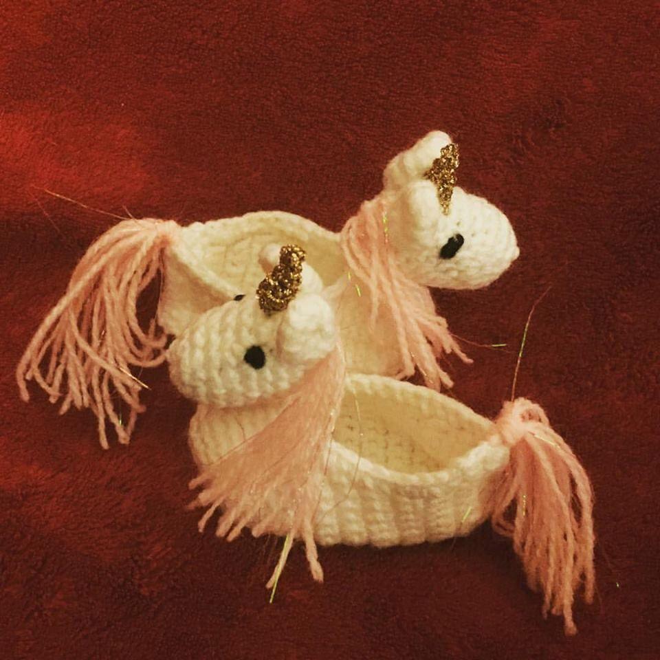Unicorn Slippers Crochet Pattern | creaciones | Pinterest ...