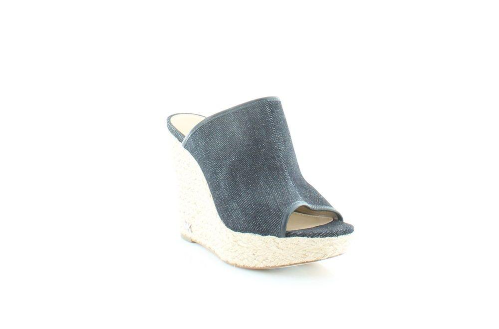 06cb7ba0c9c Michael Kors Hastings Mule Sandals Blue Womens Shoes 7.5 M Sandals ...