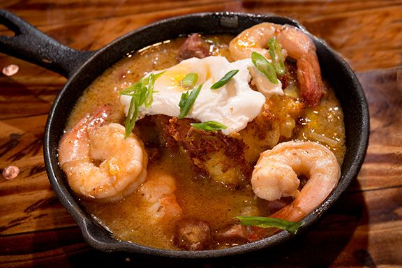 Shrimp & Grits at NEO ~ local farm to table gastropub in Hilton Head Island, SC.  #SouthernFood #lowcountry