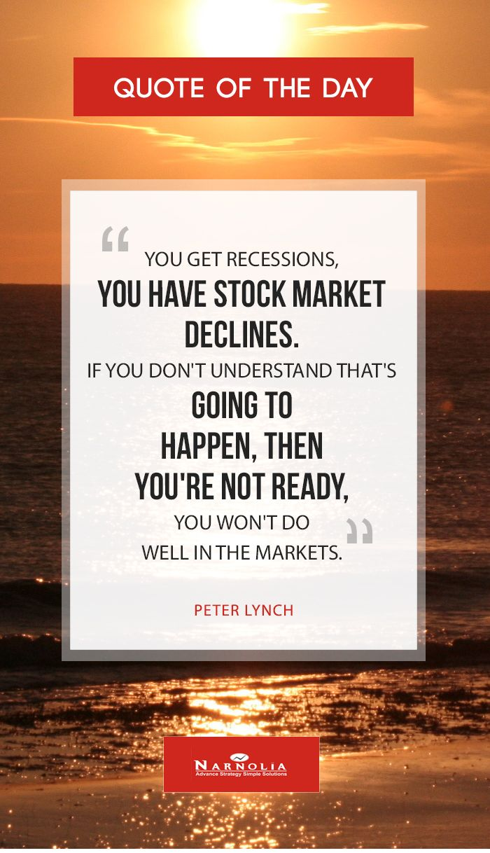 "Facebook Stock Quotes Quote Of The ""you Get Recessions You Have Stock Market Declines"