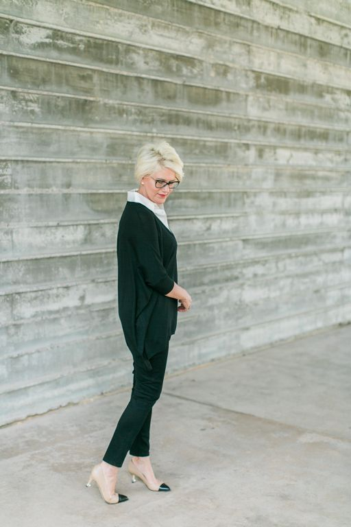 St. John Sweater-Chanel Pumps-Louis Vuitton Handbag // By Way of Berlin Blog