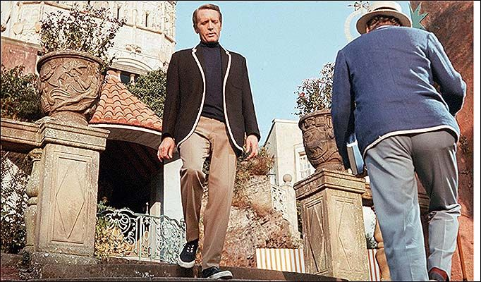 Captivating ... Patrick McGoohan in cult TV show The Prisoner in 1967