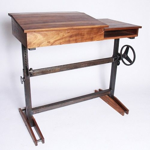 An Adjustable Height Stand Up Desk So We Can Work On Our Feet