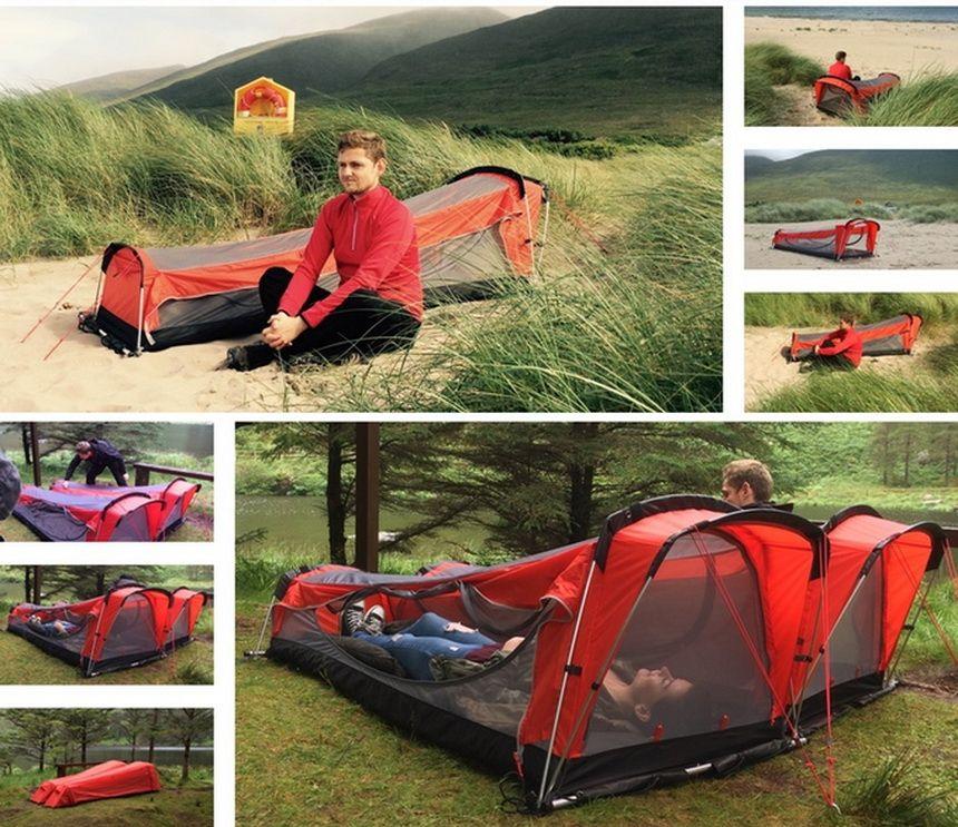 Tent Hammock Sleeping Bag Inflatable Mattress Combo: A Sound Sleep Anywhere  You Go