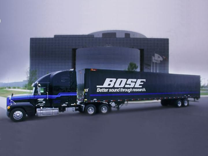 bose corporation headquarters. truck outside corporate headquarters bose corporation