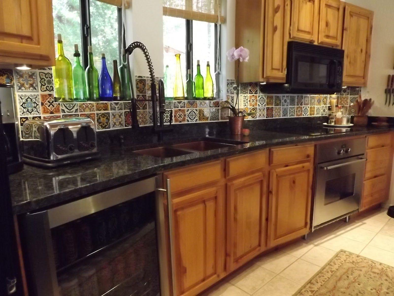 Mexican Tile Kitchen Backsplash DIY | Mexican tile kitchen ...