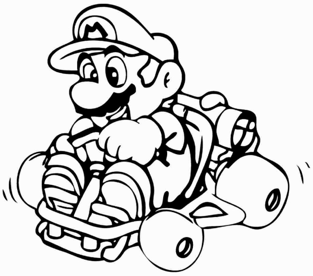 Coloring pages for kids mario bros - Super Mario Brothers Coloring Pages