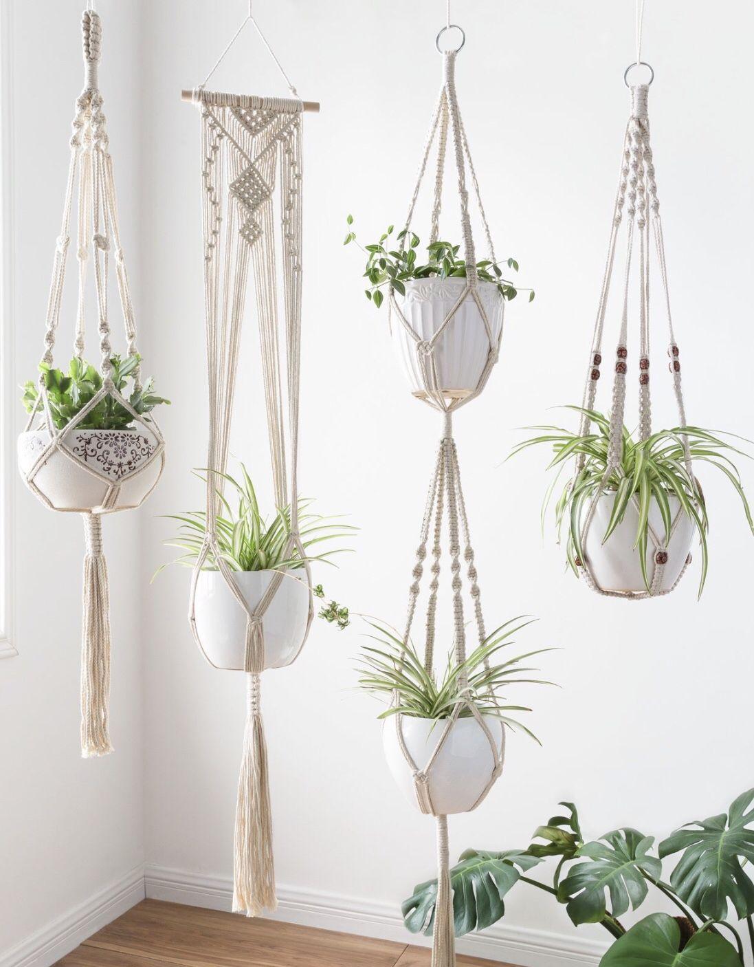 Best seller set of 4 macrame plant hangers macrame plant