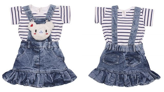 5dd136854b9c5 Indian Evergreen Jeans Denim Baby Girls Birthday Party wear dangree  daungree dangri Dress Age Group 6