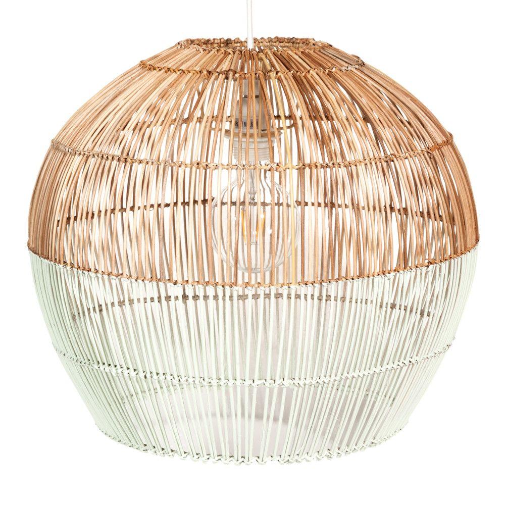 Lampada a sospensione in vimini verde giada D.45 cm ELVA | Maisons du Monde