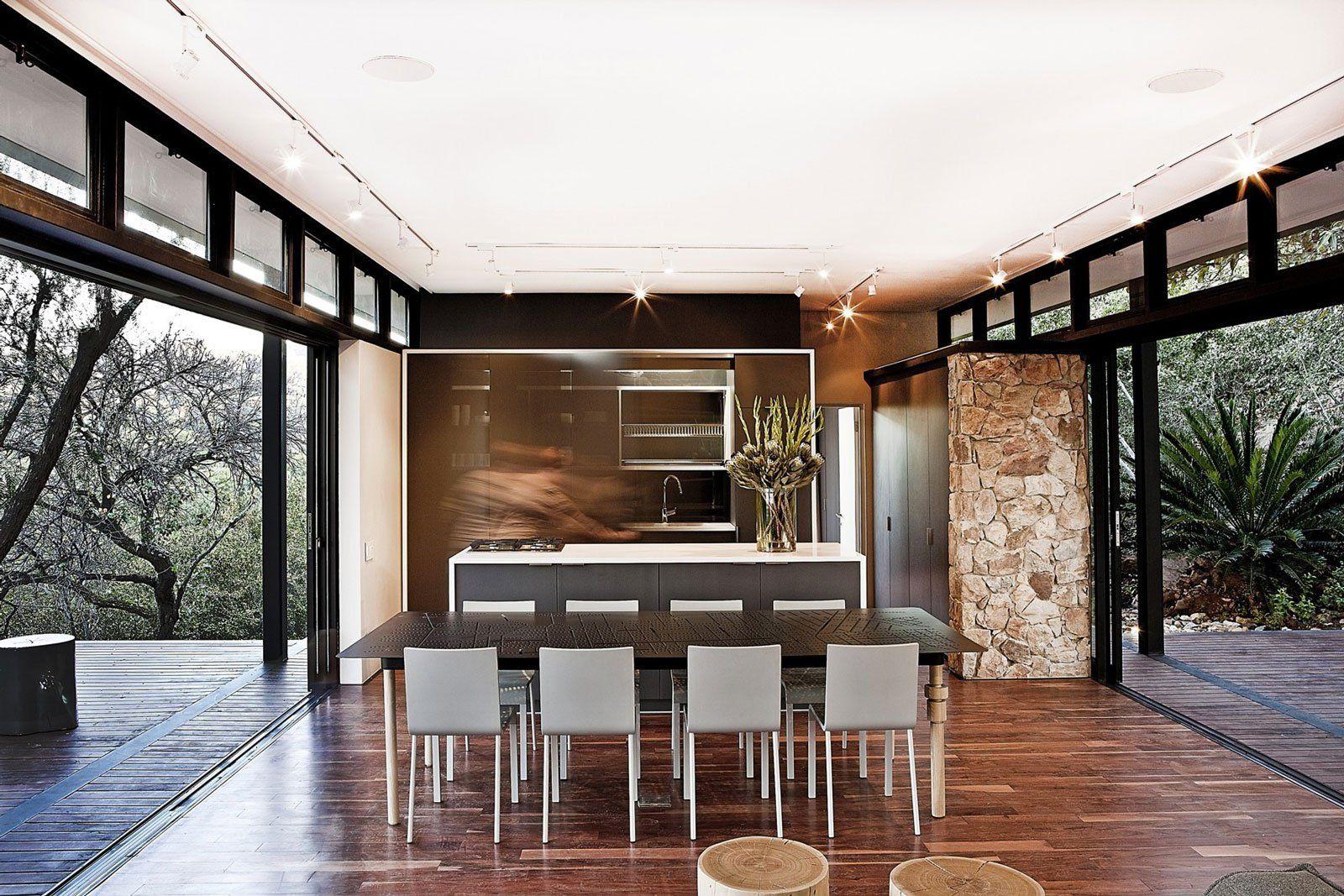 moderna casa de campo con estructura acero construye hogar