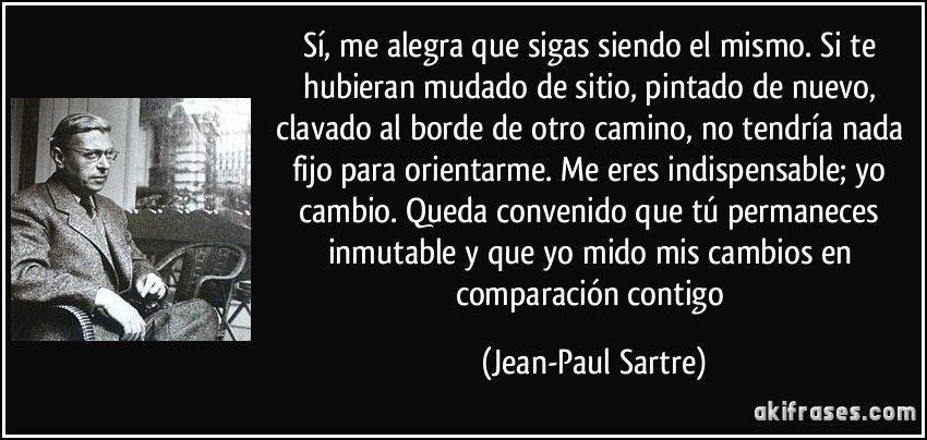 La Nausea Jean Paul Sartre Sartre Frases Jean Paul