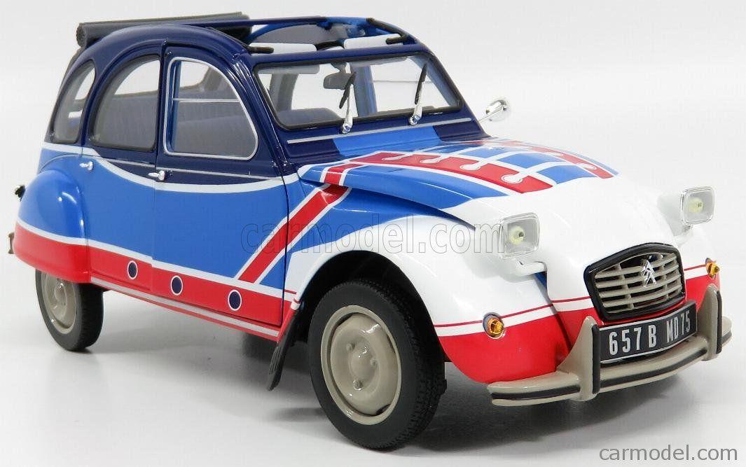 1:18 Norev Citroen 2 CV Basket 1976 blue//red//white