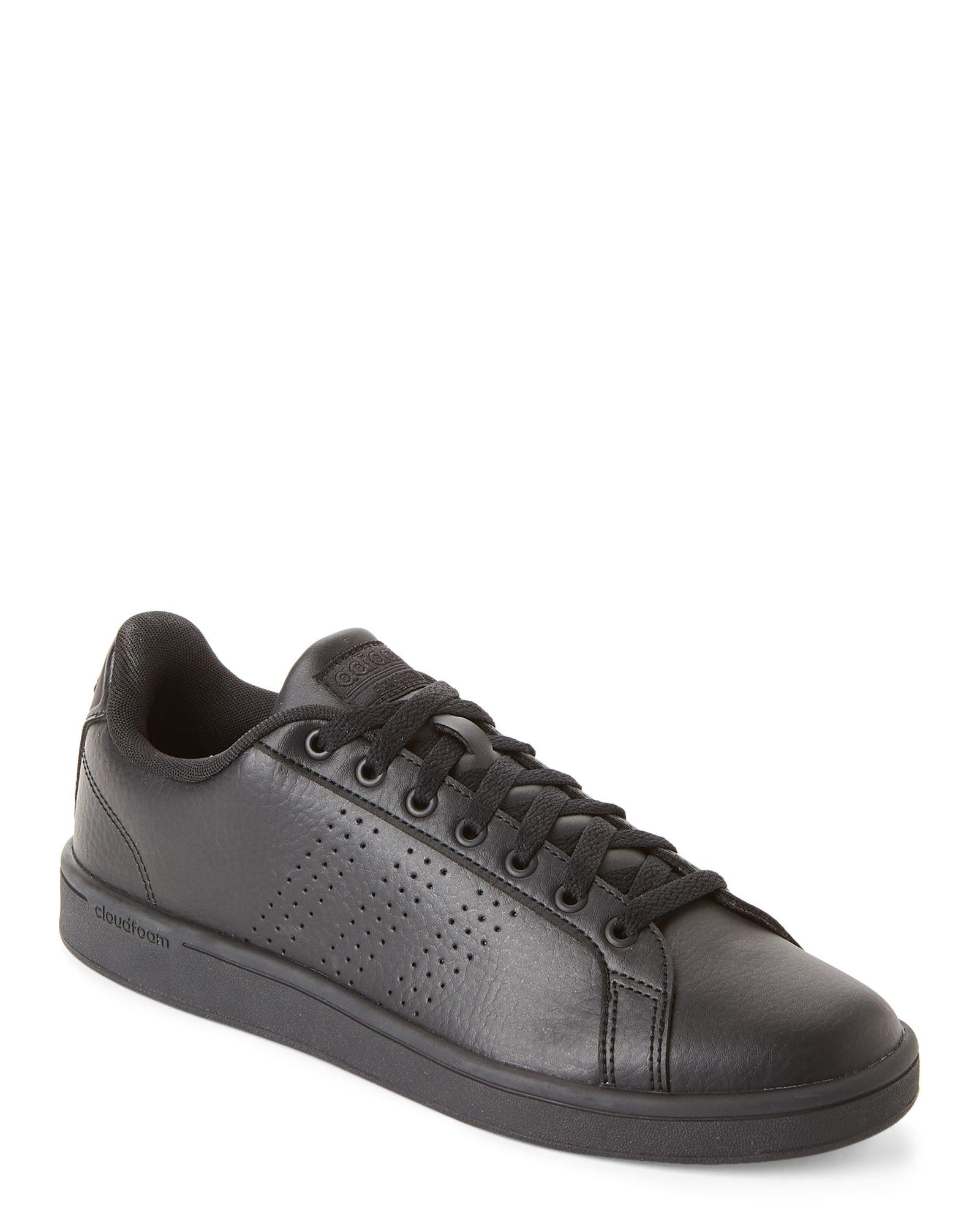 Adidas Black Neo Cloudfoam Advantage Clean Sneakers | Dress shoes ...