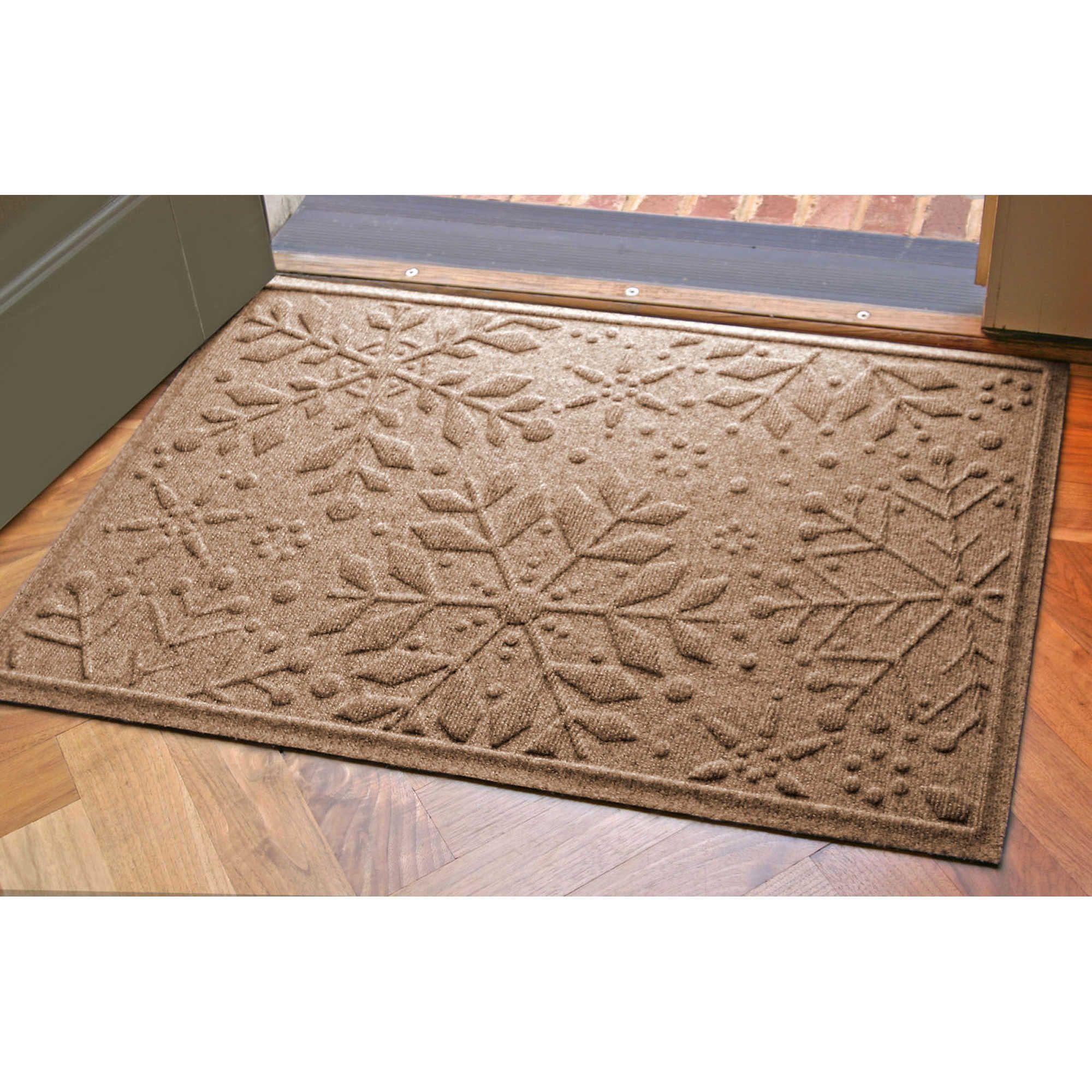 Weather Guard 23 Inch X 35 Inch Snowflake Door Mats Door Mat Entry Mats Bungalow Flooring