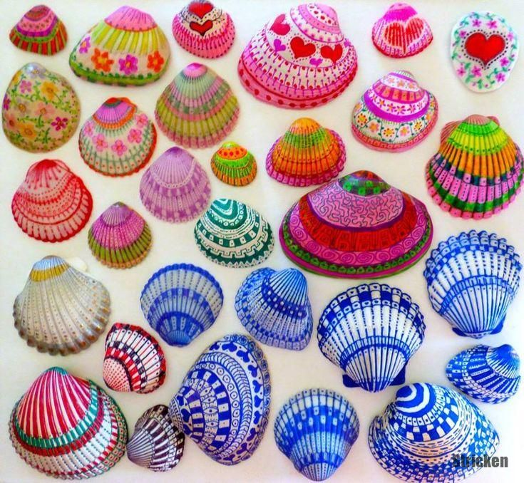 Photo of shell shell fun simple painting idea! Painting shells with sheer snipers. Schö …