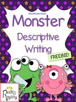 Writing - Create a Monster: $1 Deal This FREEBIE is great for introducing descriptive writing. You could also use it as a Halloween writing activity!   Included is a page for students to create and draw their monster, a graphic organizer, and lined paper for their finished writing.   Students create and draw a detailed picture