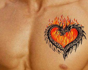 Photo of Temporary Tattoo Dragon Waterproof Ultra Thin Realistic Fake | Etsy Girl shoulde…