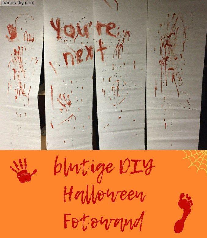 Halloween Fotowand.Blutige Diy Halloween Fotowand Eine Super Einfach